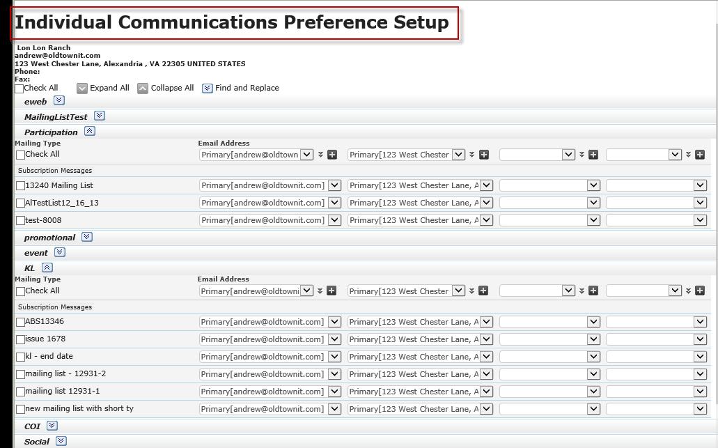 Communication Preferences 1