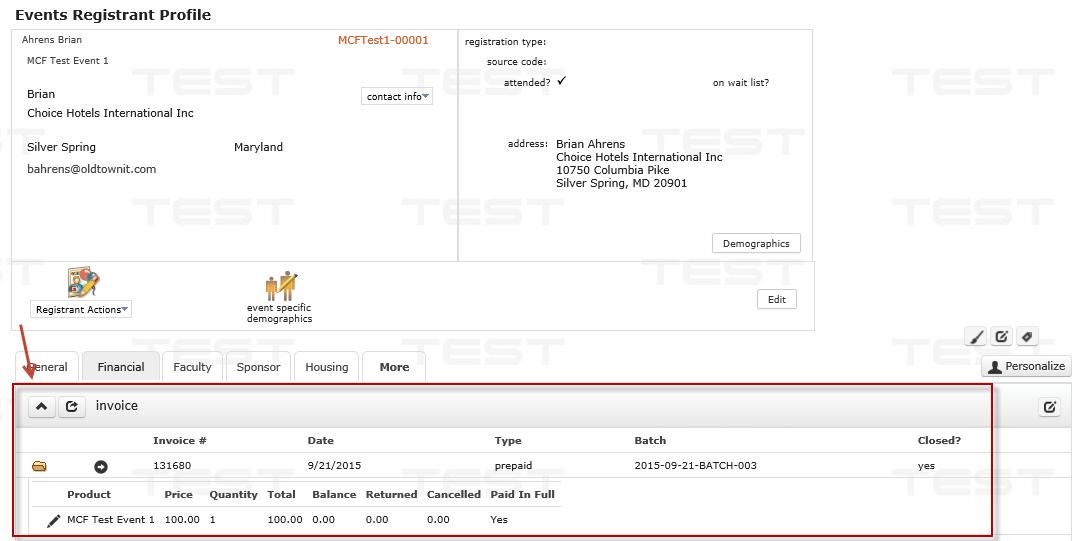 Registrant Invoices 2